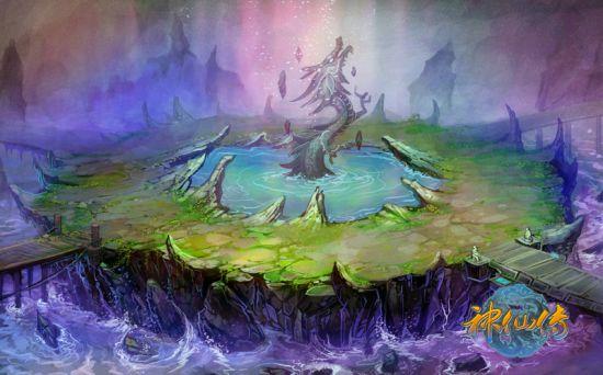 黑龙池原画