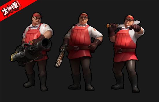 胖哥是重机枪手的代表人物之一