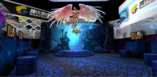 《英雄联盟》展区是今年腾讯游戏CJ现场最大的游戏展区之一