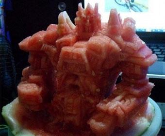 """""""以前那些吃西瓜的方法都弱爆了!"""