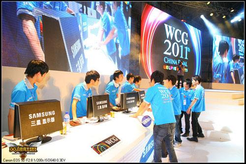 WCG2011比赛现场选手准备中