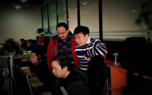 罗晓音与九众互动CEO朱传靖交流《将魂》配乐情况