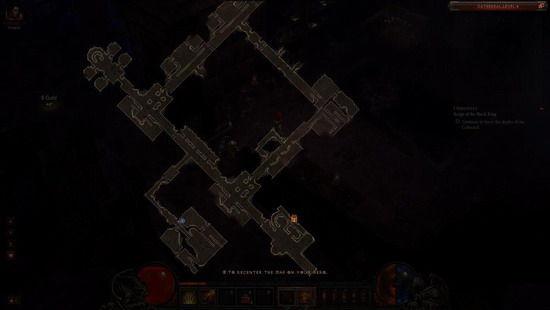 暗黑3中打开地图后