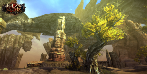 《黑金》巨石植物场景截图