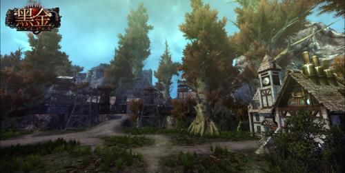 自然魔法阵营钟楼一般的建筑