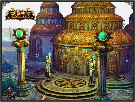 神秘的海底宫殿图片