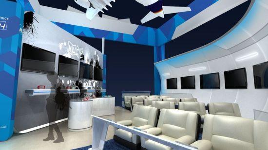 """图1:温馨的""""空客380""""机舱"""