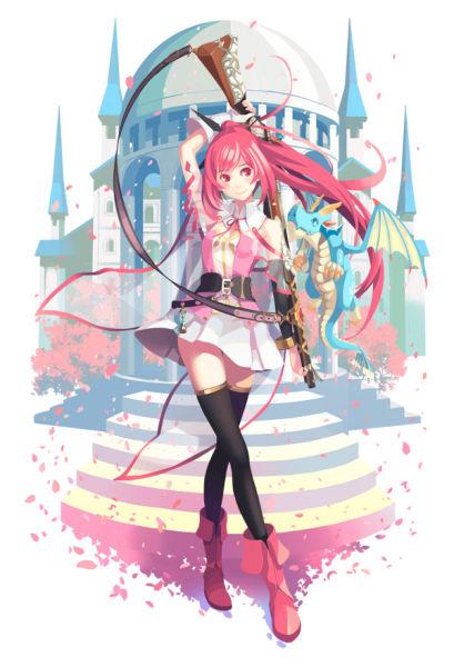 """台湾插画家VOFAN担任角色原案的女主角""""朵姬""""和""""朵娃"""""""