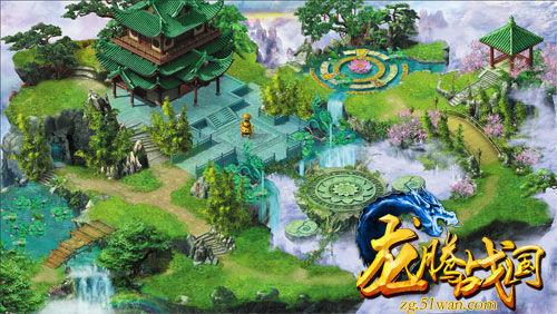 《龙腾战国》新手村场景图