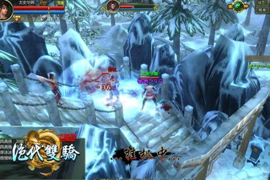 Unity3D武侠页游《绝代双骄》关卡副本截图