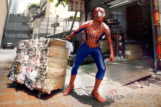 蜘蛛侠街头拉废纸
