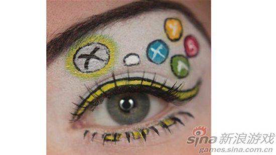 游戏主题眼部化妆