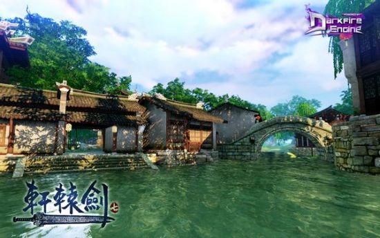《轩辕剑7》实际游戏画面-月河村