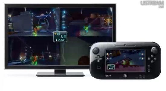 《任天堂乐园》中《银河战士》小游戏提供的多人分屏联机