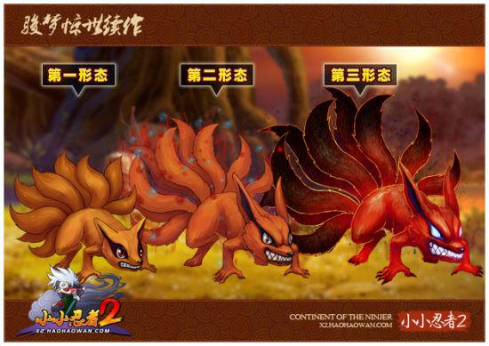 当年可爱的九喇嘛是如何成长为今天霸气侧漏的九尾妖狐的呢?