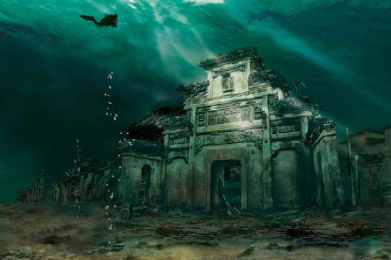 海底建筑简笔画