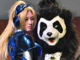 螺旋猫现场COS熊猫人
