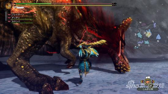 《怪物猎人3G HD版》实际游戏截图