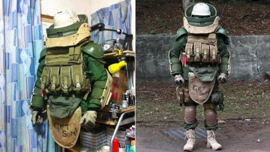 日本玩家COS《使命召唤》重甲兵