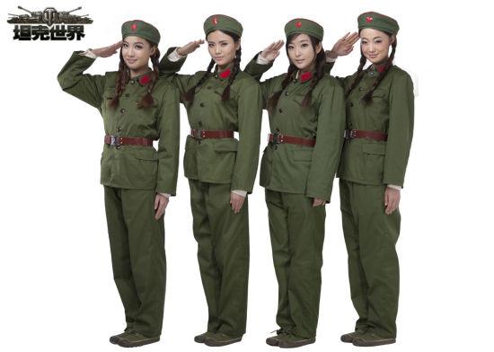 娘子军排行《美女世界》最美全国坦克再现坦克女兵图片