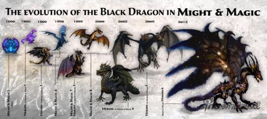 拥抱星空之翼 1张图读懂《魔法门》系列黑龙演化史