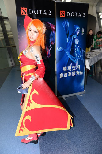 DOTA2火女展台秀妖娆