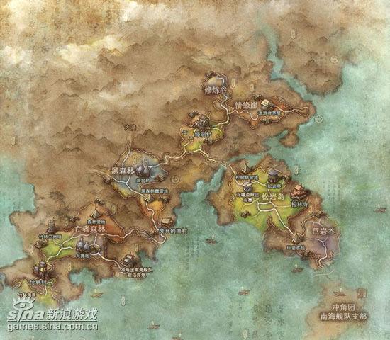 御龙林地区地图