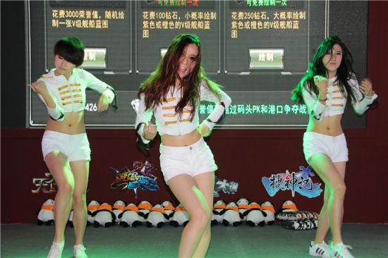 美女热舞游戏试玩 chinajoy机锋展台全览