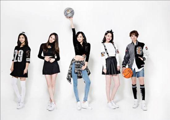 韩国少女团体fx代言篮球网游