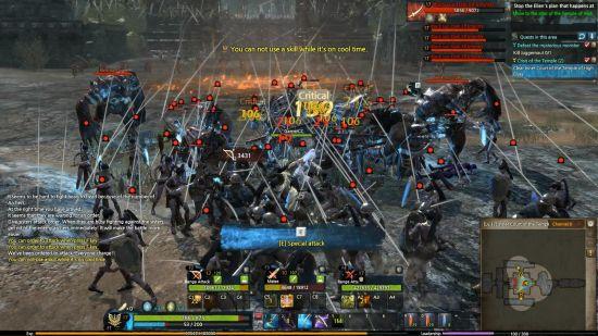 激烈的战争场面是游戏的一大卖点