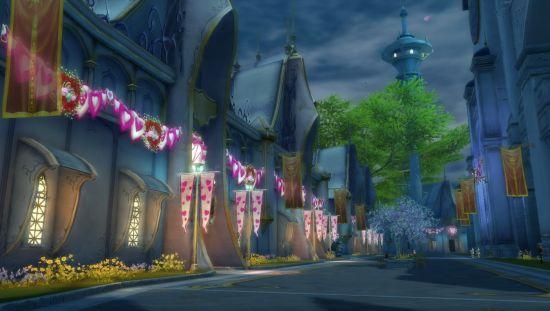 感受浪漫的气息《永恒之塔sf》情人节主城大变样