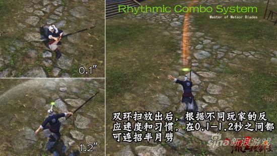 棍双环扫+半月劈的Rhythmic Combo System不同表现