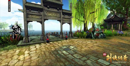 《新剑侠传奇》实际场景截图~西湖