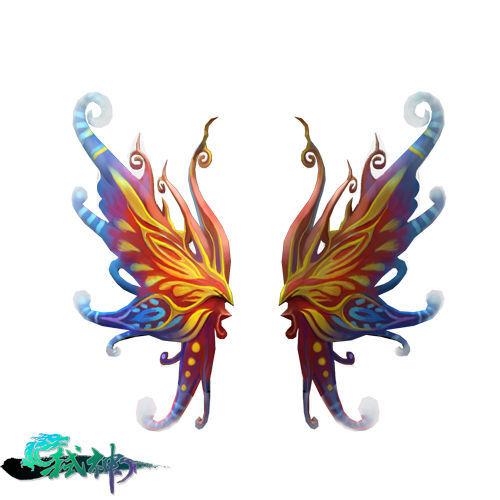 机械羽翼翅膀结构图