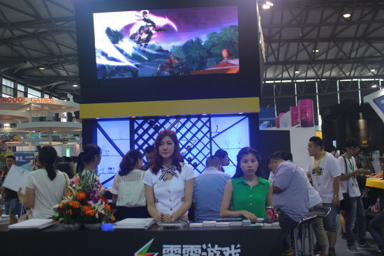 雷霆游戏Chinajoy2014美女礼仪解答疑问
