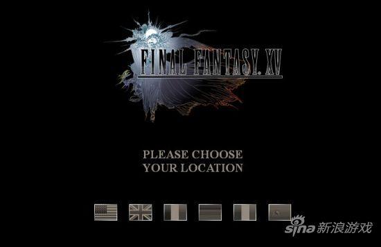 最终幻想15官网截图 其实页面没变化就换个域名