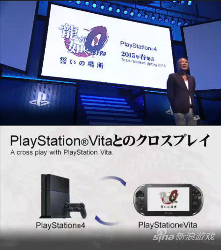 SEGA《如龙Zero 契约之地》将于2015年春季于PlayStation 4和PlayStation 4发售,并将配有PS Vita配合游戏协同。