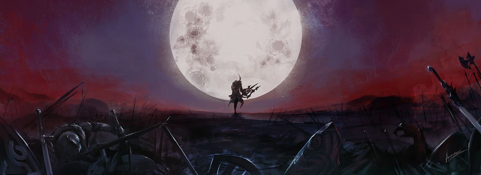 笔尖上的艾欧泽亚系列 栎画大神新作:月神弓