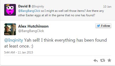 监Alex Hutchinson对粉丝的回答
