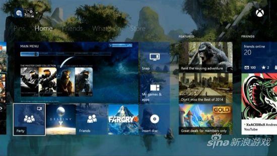 XboxOne二月系统更新对界面菜单进行了功能强化