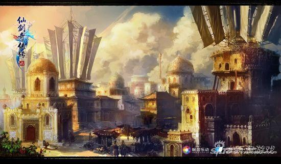 《仙剑奇侠传6》盈辉堡场景设定图
