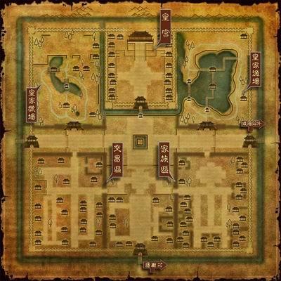 咸阳城地图