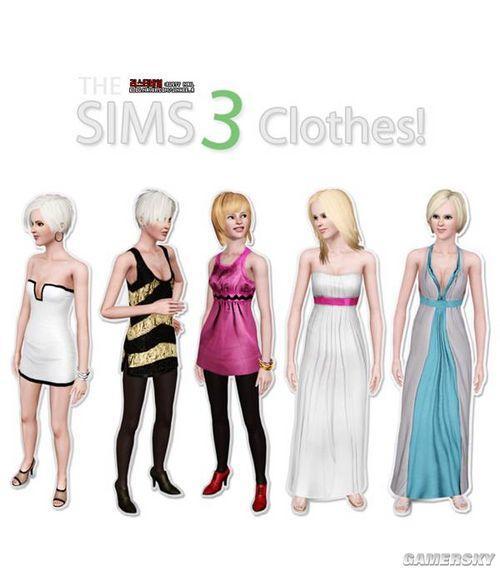 《模拟人生3》mod服饰多款mm新衣服穿小说情趣内衣车震的图片