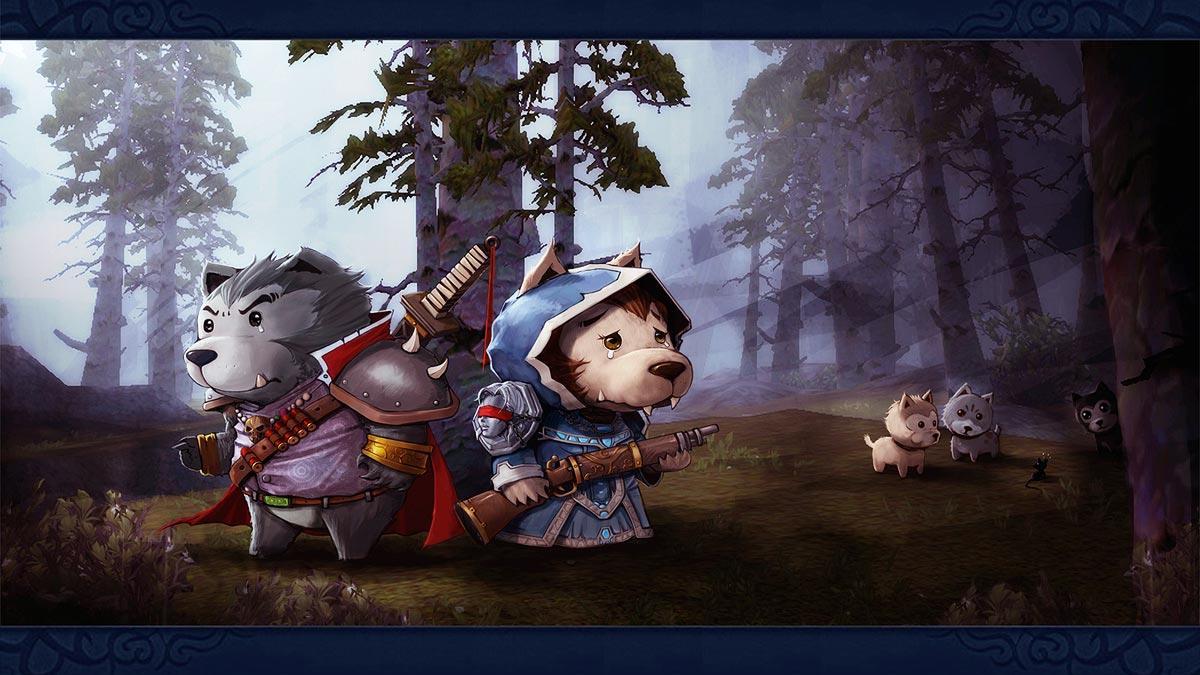 超级可爱的德鲁伊爸爸和狼人妈妈!