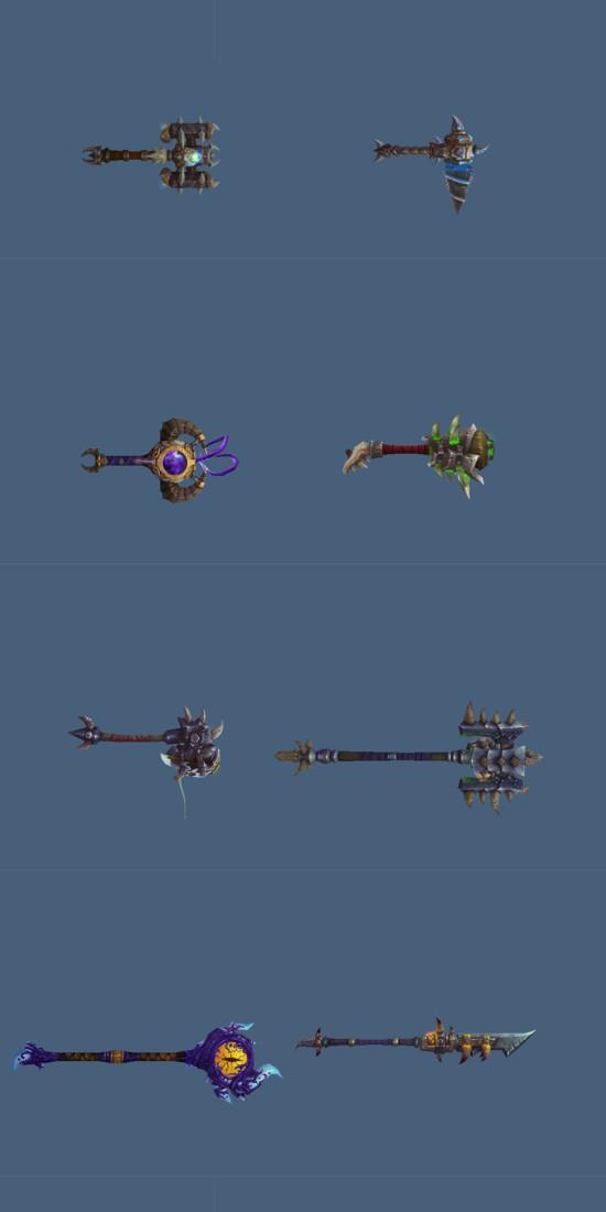 5.4PTR 部分新武器模型展示 新蓝紫色煞武器