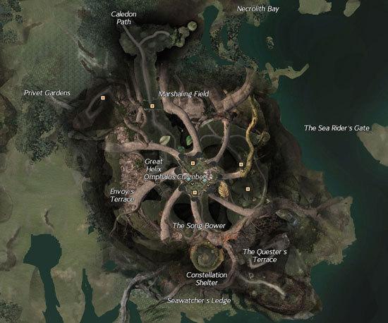激战2圣林之地四层地图