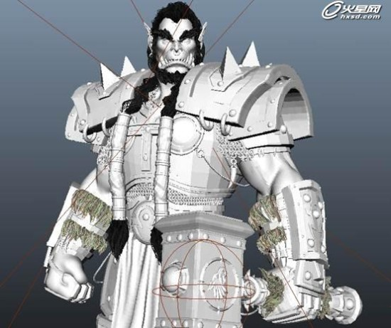 魔兽世界霸气萨尔cg模型全三维制作过程欣赏