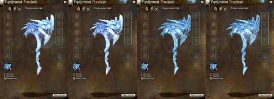 玩家自制《激战2》1:1实体版传奇冰龙斧