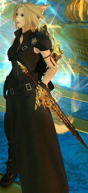 最终幻想14经典幻化 克劳德外衣幻化效果展示