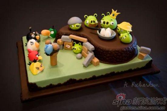 玩家制作创意蛋糕